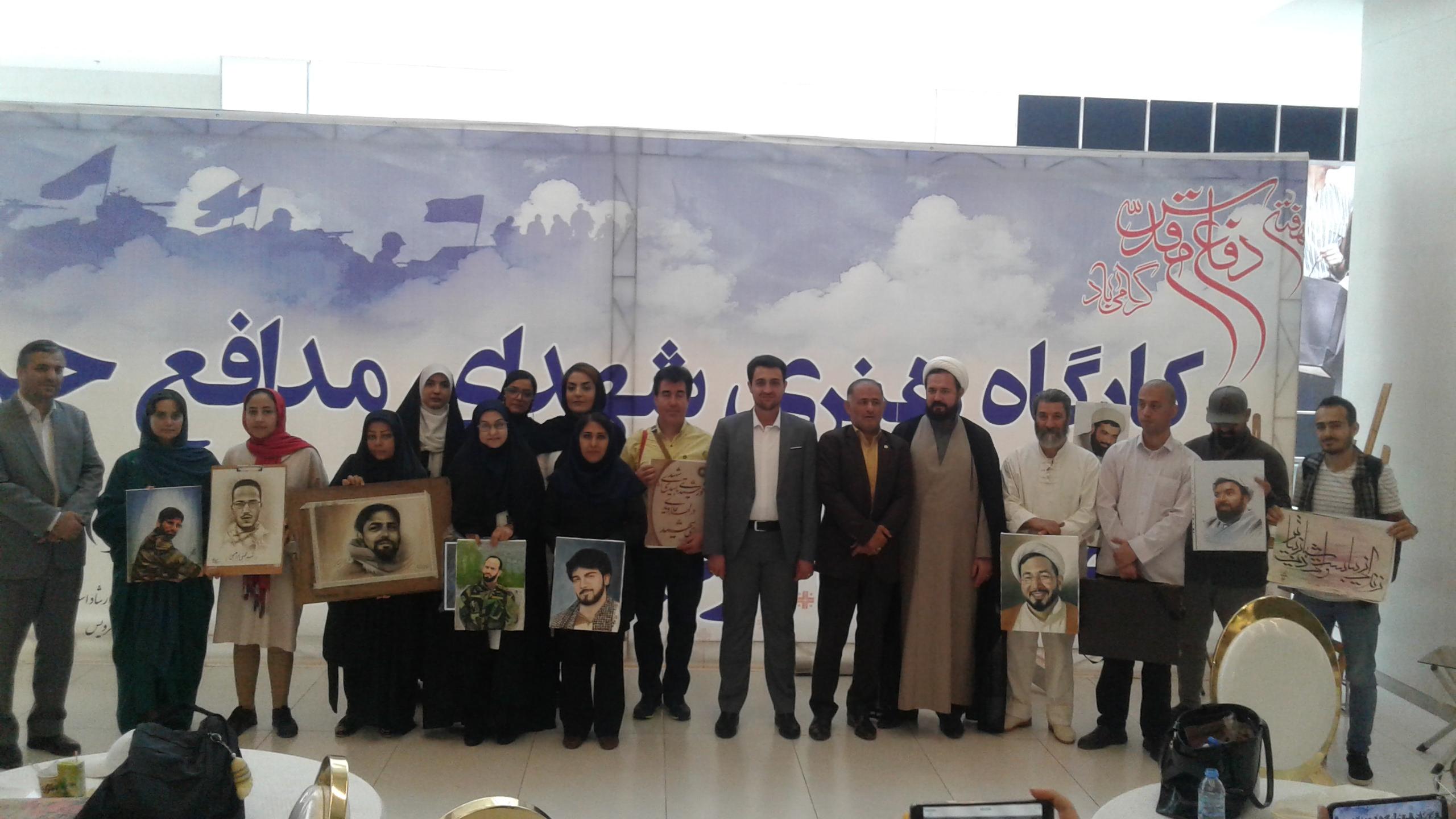 به همت هنرمندان شهرستان فردیس : «خروش رنگ ها» در پاسداشت مقام شهدای مدافع حرم+ تصاویر